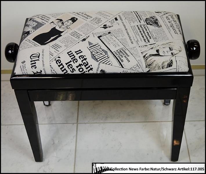 """Hochwertige - Sitzpolster aus gewebten Stoff für Ihre Klavierbank """"New"""""""
