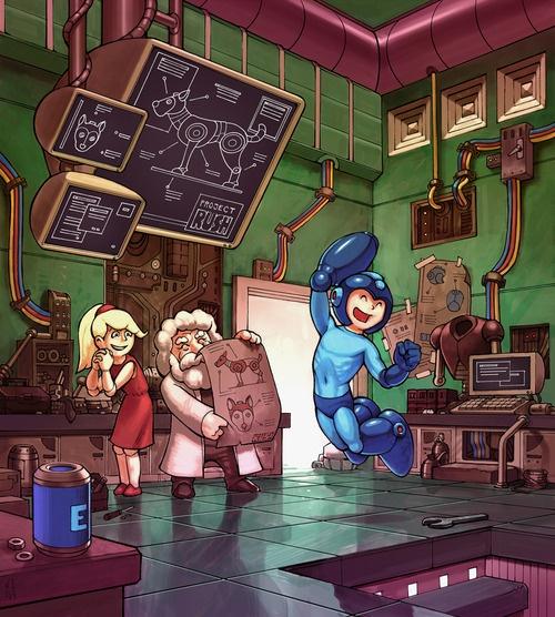 Mega Man`s New Friend.