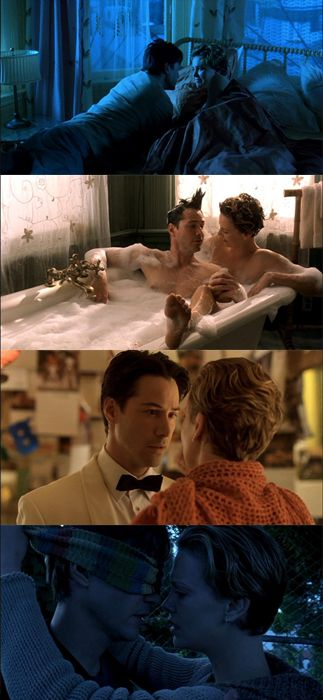 Charlize Theron (Sara Deever) & Keanu Reeves (Nelson Moss) - Sweet November directed by Pat O'Connor (2001) #love