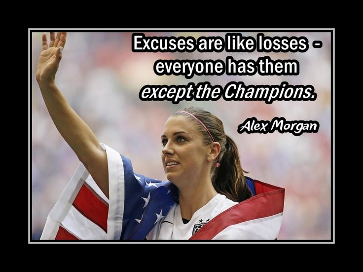 "Soccer Wall Art Daughter Wall Decor Player Wall Art Coach Wall Decor Motivation Poster Alex Morgan 8x10""- 11x14"" Excuses Are Like Losses by ArleyArt on Etsy"