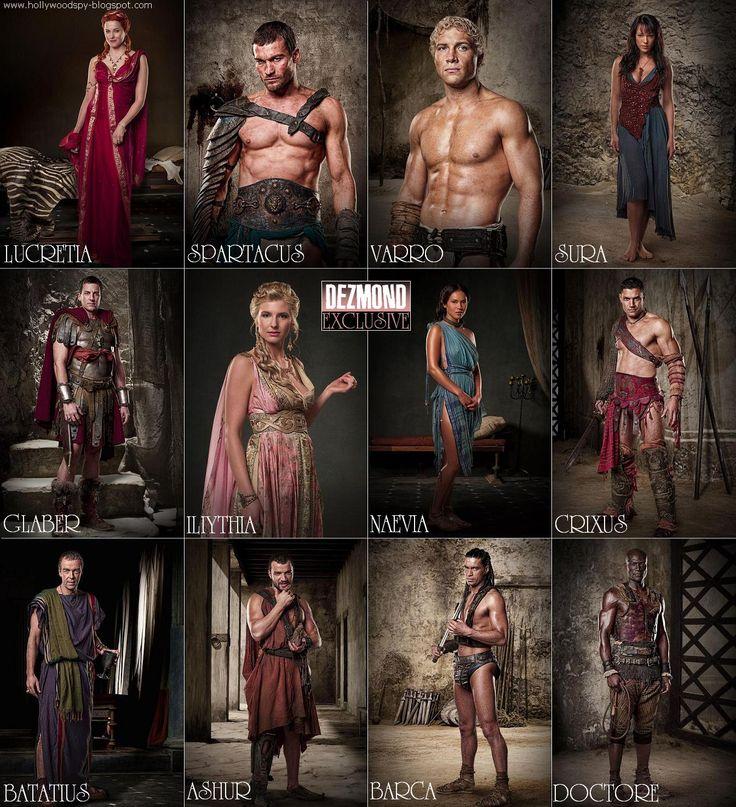 spartacus tv serie rollista
