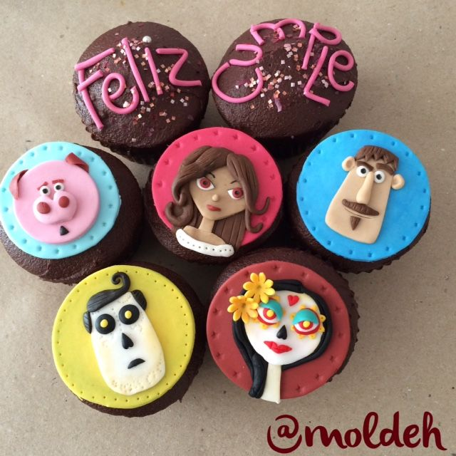 """Cupcakes de película """"El libro de la vida"""" // """"Book of life"""" movie Cupcakes"""