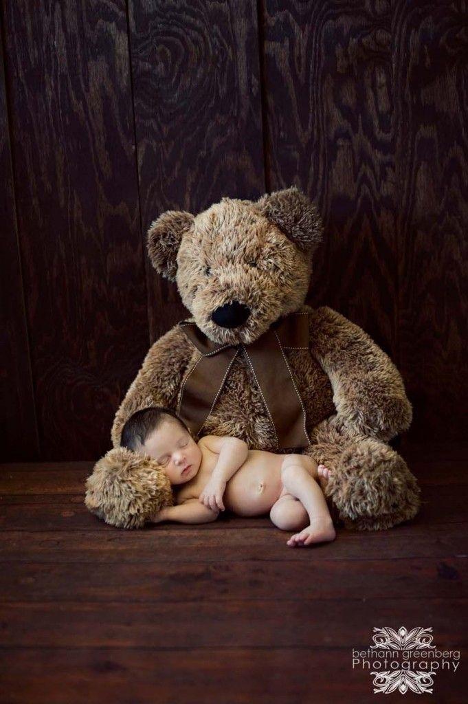 San Diego Newborn photos. teddy bear. by bethanngreenberg.com Newborn Boy