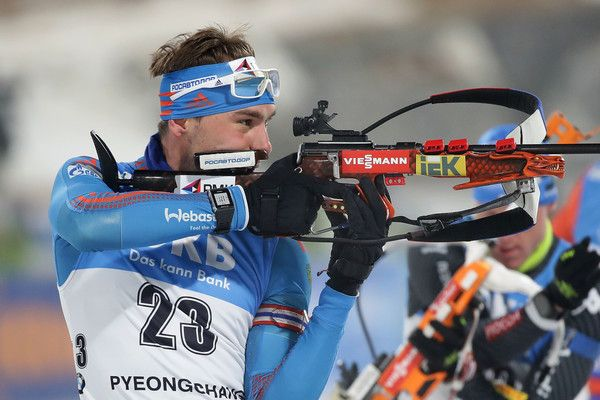 Anton Shipulin of Russia competes in the Men 12.5km Pursuit during the BMW IBU World Cup Biathlon 2017, a test event for PyeongChang 2018 Winter Olympic Games, at Alpensia Biathlon Centre on March 4, 2017 in Pyeongchang-gun, South Korea.