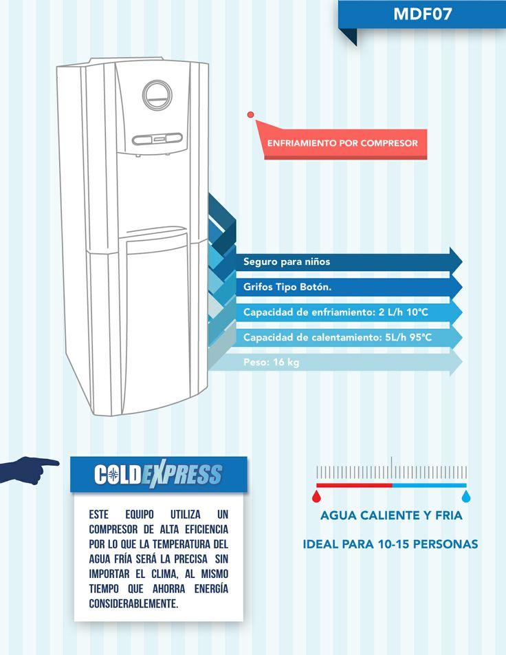 Con cold express podrás tener un enfriador de ultima generación y mantener el agua fría, a pesar del clima, la cantidad de agua usada y ahorrar energía
