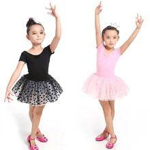 Mädchen Kinder Tanzbekleidung Gymnastikanzug Art-mädchen-tanz-kleid-ballettröckchen-rochen-show Kostüm Tanzkleid 3-7 Y(China (Mainland))
