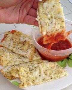 Baked Cauliflower Cheese Sticks with Marinara Sauce