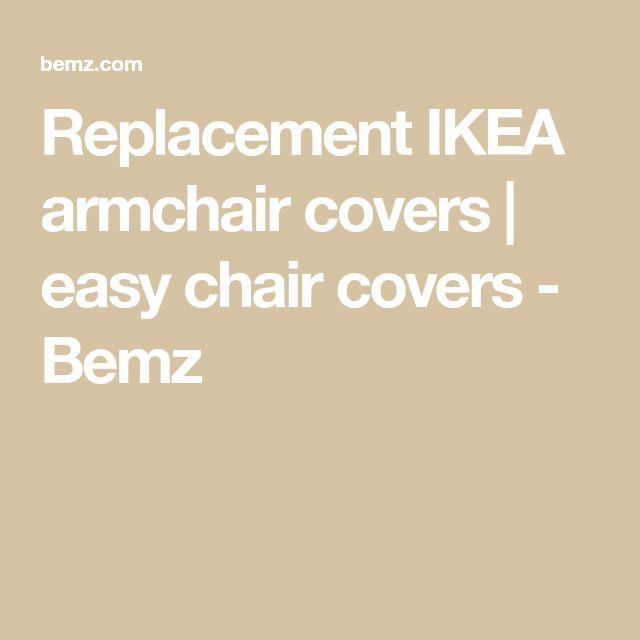 Replacement IKEA armchair covers | easy chair covers - Bemz