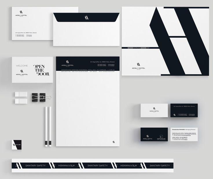 Σχεδιασμός εταιρικής ταυτότητας για το Aegli Hotel Volos.