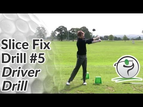 Cure Your Golf Slice Drill 5 - Driver Drill - YouTube