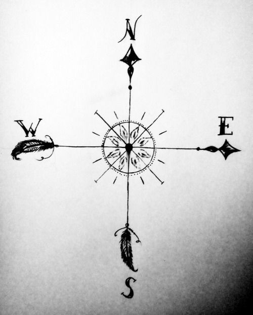simple compass tattoo - Google Search