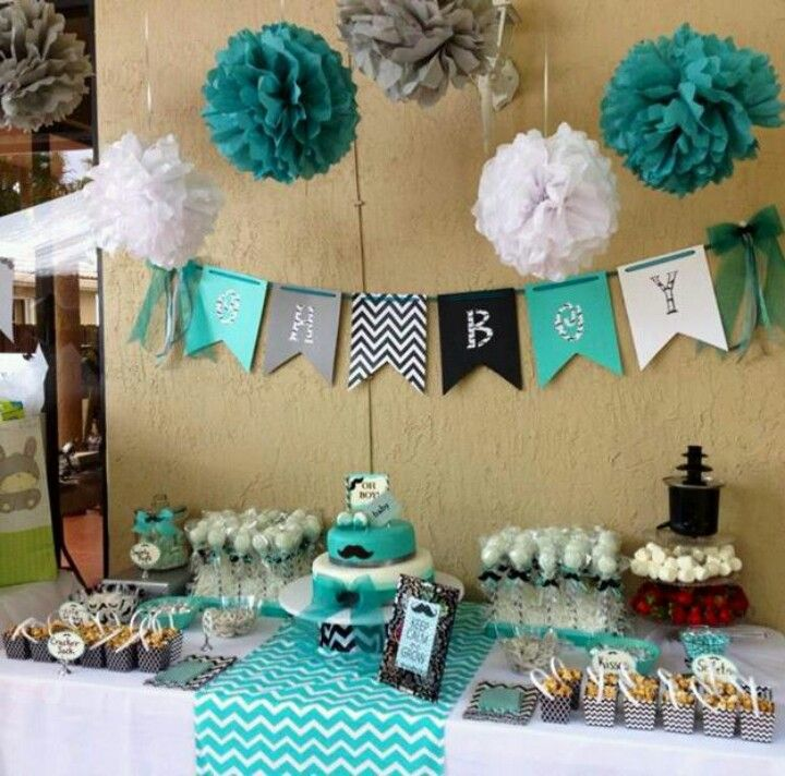 candy baby showers blue baby