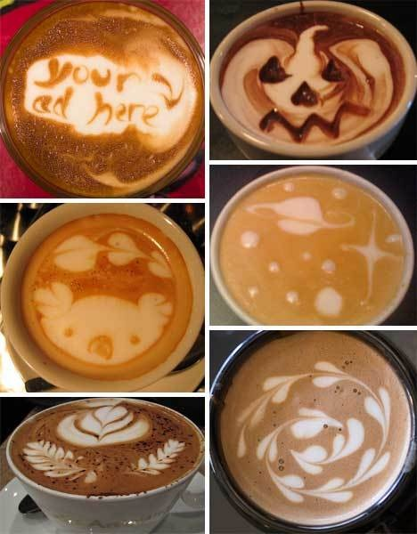 Latte foam art