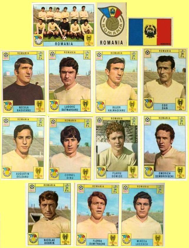 Panini stickers 1970 FIFA World Cup Mexico - Romania squad