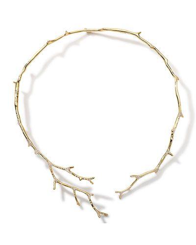 P5081 Ippolita 18k Gold Stardust Multi-Branch Necklace with Diamonds $24950