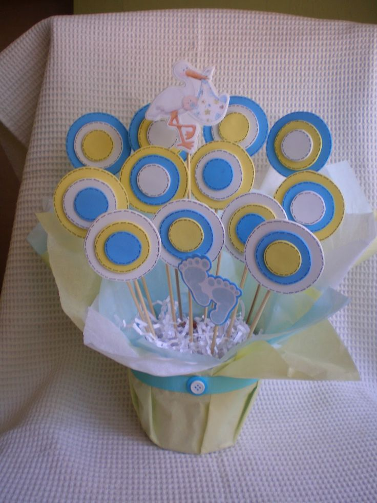 Crafts For Baby Showers | Boy Baby Shower Centerpiece Decorations
