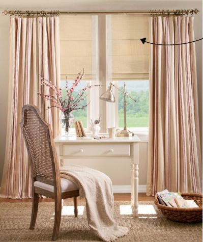 Layered Curtains Over Roman Shades Home Decor Layered