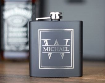 Groomsmen Gift Personalized Gift for Him Engraved Flask