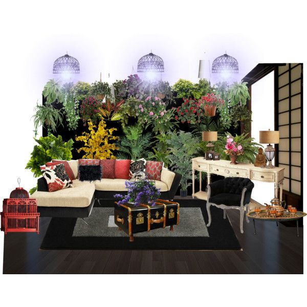 Small Space Garden by wasupfirefairy on Polyvore featuring interior, interiors, interior design, home, home decor, interior decorating, Authentic Models, Eichholtz, Moooi and Boskke