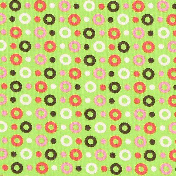 Jersey Circular 3 - light green - More Children's Fabrics - Jersey Dots - myfabrics.co.uk