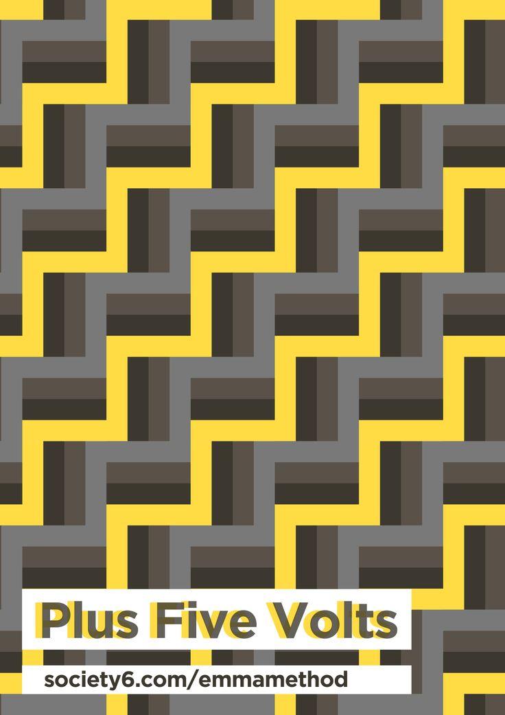Plus Five Volts new geometric repeat pattern
