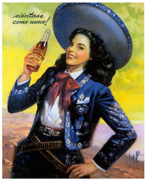 Vintage Mexican Calendar Art : Images about beautiful mexican calender art on