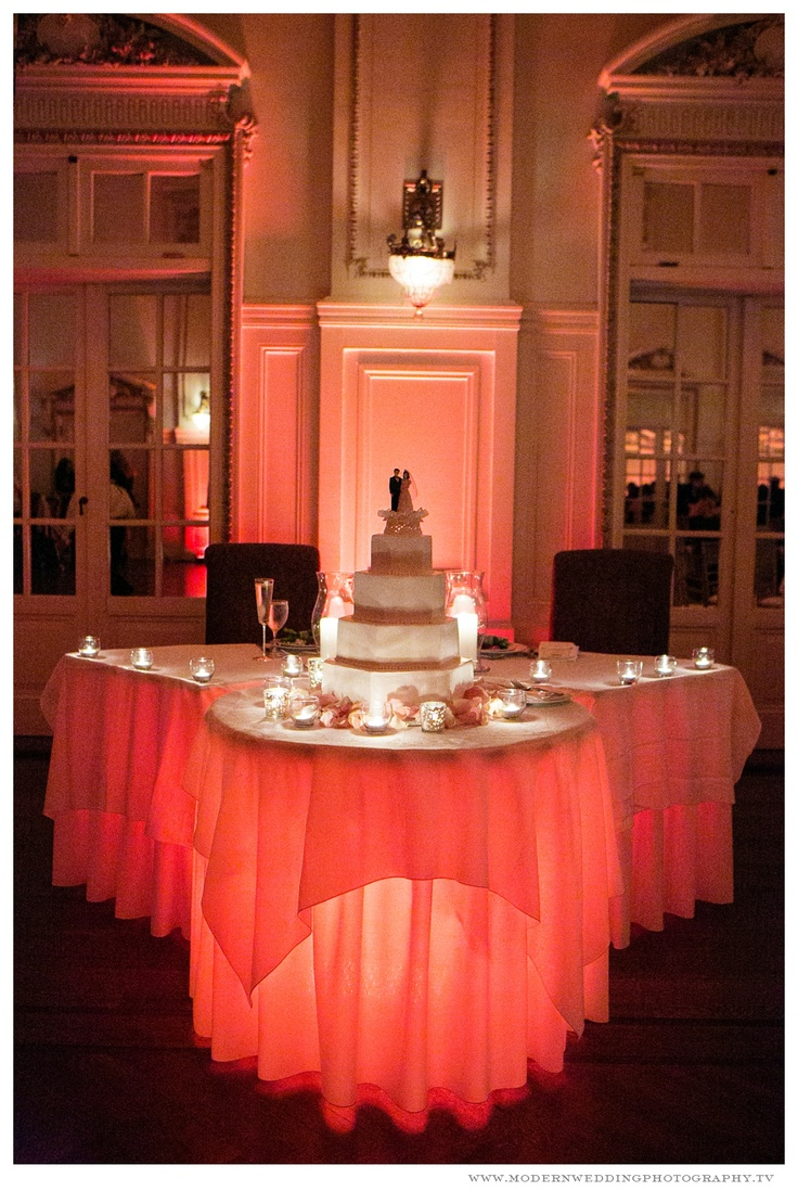 Beautiful Set Up For Cake Table Bourne Mansion Wedding With Glowing