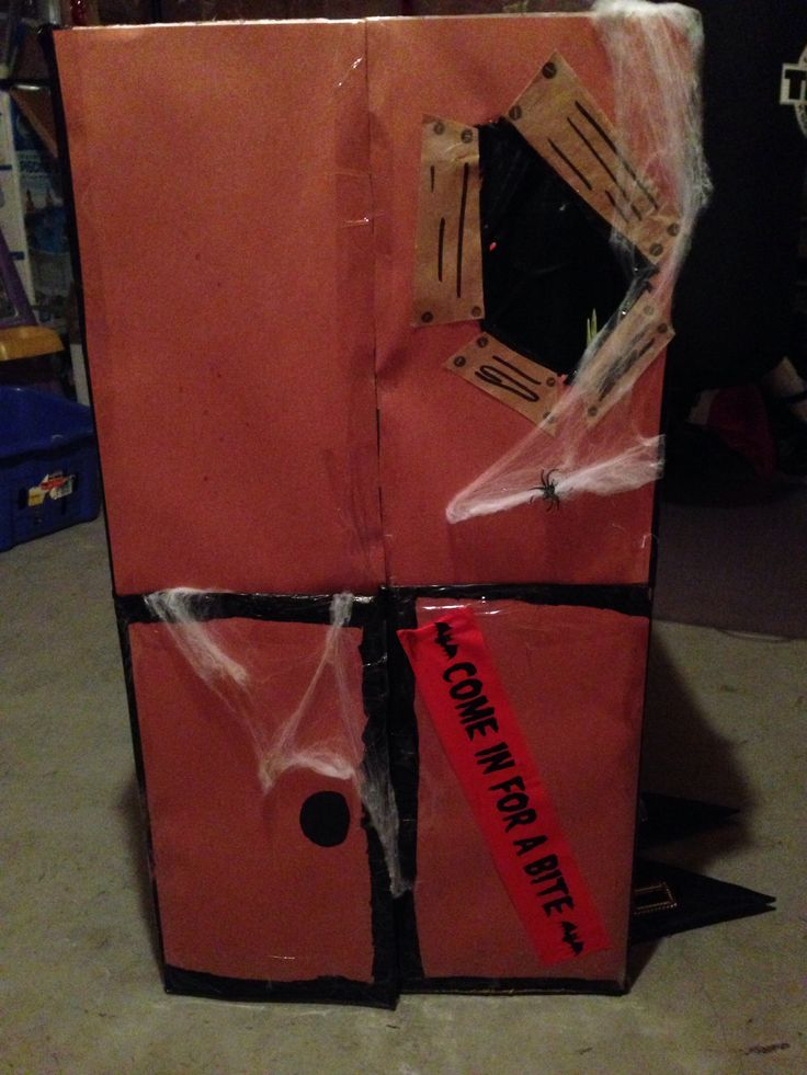Homemade haunted house for dramatic play