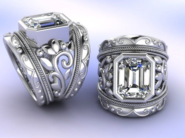 Matrix CAD ring design by Fia Fourie