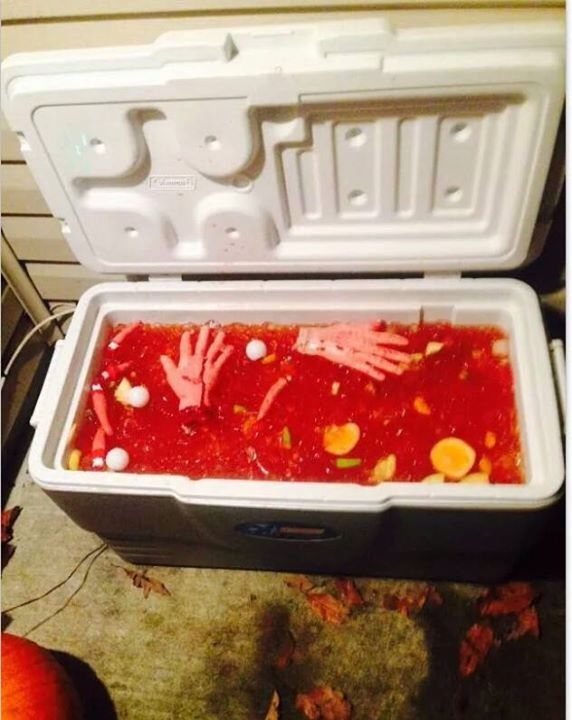 I made creepy jungle juice for the Halloween party