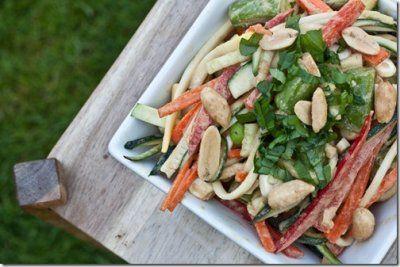 Thai Zucchini Impasta Salad: Salad Recipes, Zucchini Impasta, Peanut Sauce, Zucchini Noodles, Zucchini Salad, Thai Zucchini, Impasta Salad, Summer Recipes, Zucchini Pasta Salad