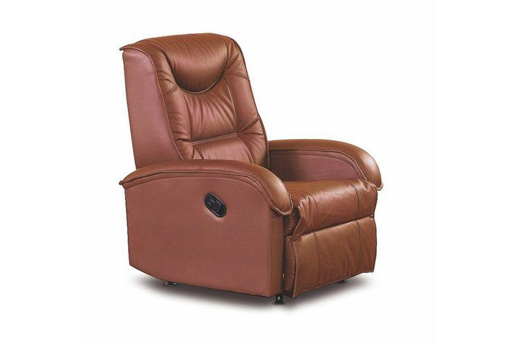 JEFF fotel z ekoskóry brązowy