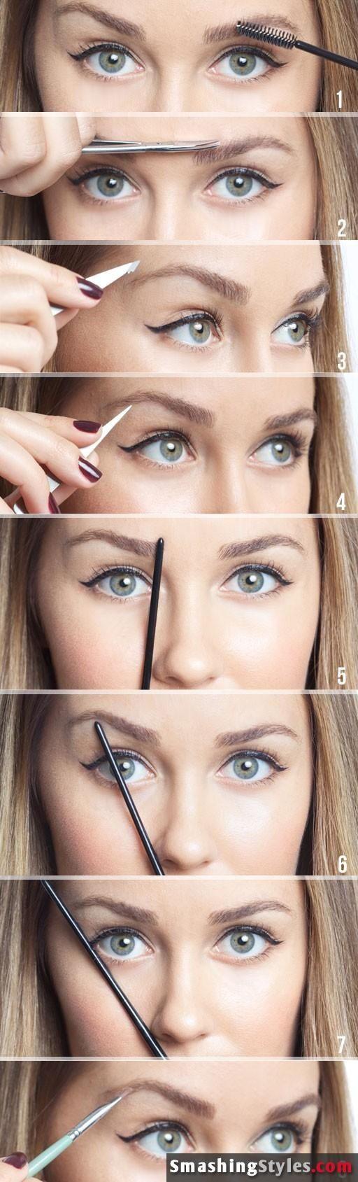 Eye brow trimming---helpful!