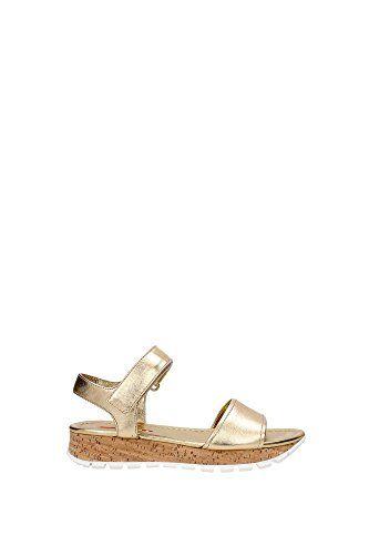 3X6019PLATINO Prada Sandalen Damen Leder Gold - http://on-line-kaufen.de/prada/3x6019platino-prada-sandalen-damen-leder-gold