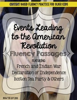 Studying the American Revolution? These fluency passages are an excellent review of social studies content while practicing fluency with older kids! There are 3 different passages and 5 unique review questions with each fluency passage. If you like these, check out my other American Revolution products!