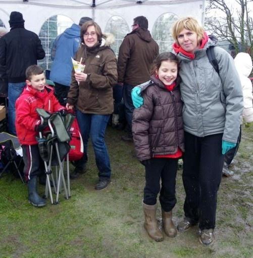 trainster Nancy met haar atleetje Emma, en ook Lennert