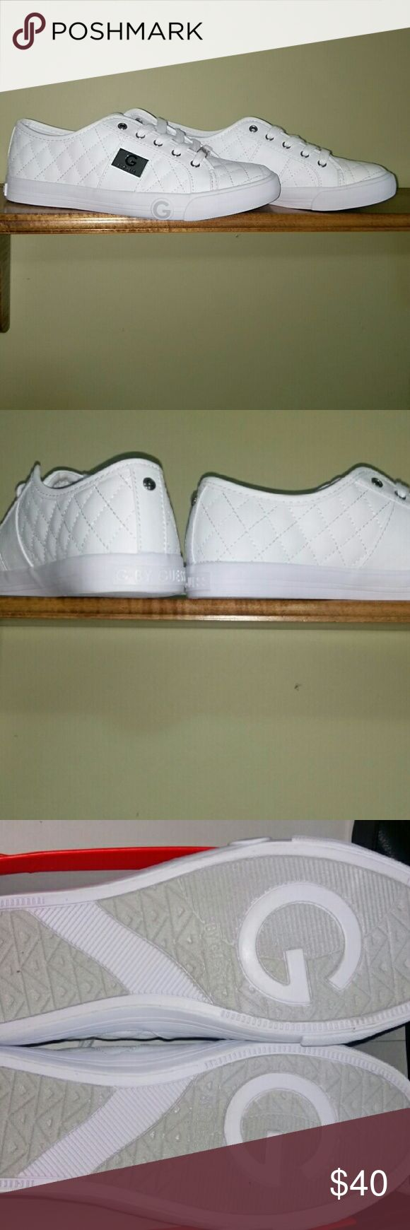 Ladies shoes White leather Guess shoes, nice style for the summer? NWT Guess Shoes Sneakers