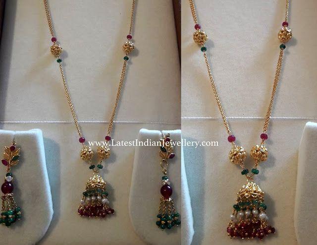 Jhumka Pendant Lightweight Chain