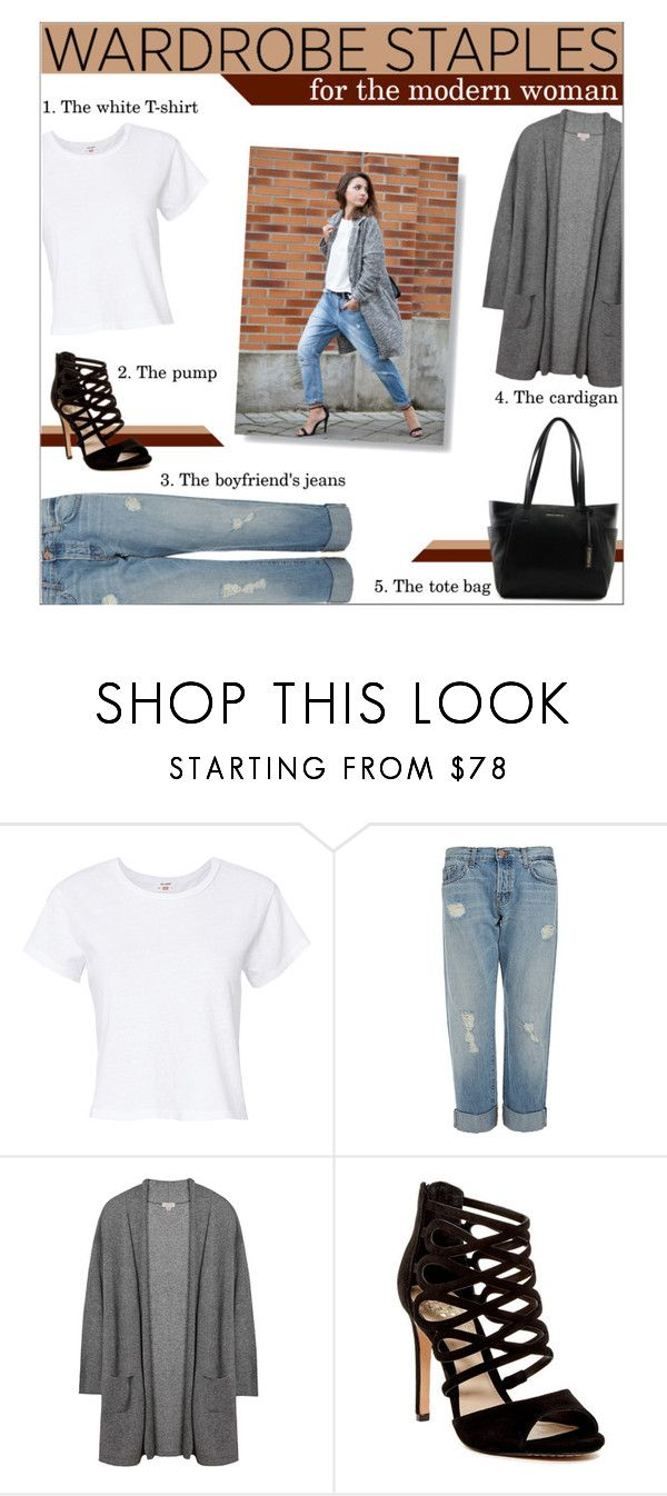 """Wardrobe staples"" by the-silent-queen ❤ liked on Polyvore featuring RE/DONE, J Brand, Vince Camuto, modern, everydaylook and WardrobeStaples"