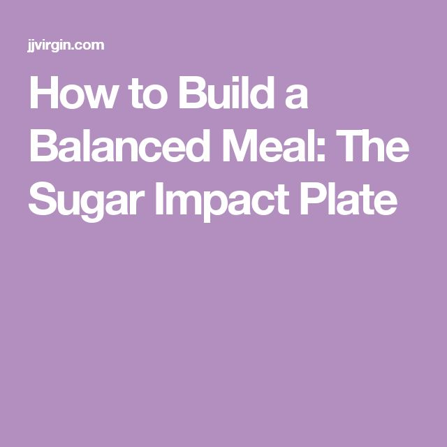How to Build a Balanced Meal: The Sugar Impact Plate