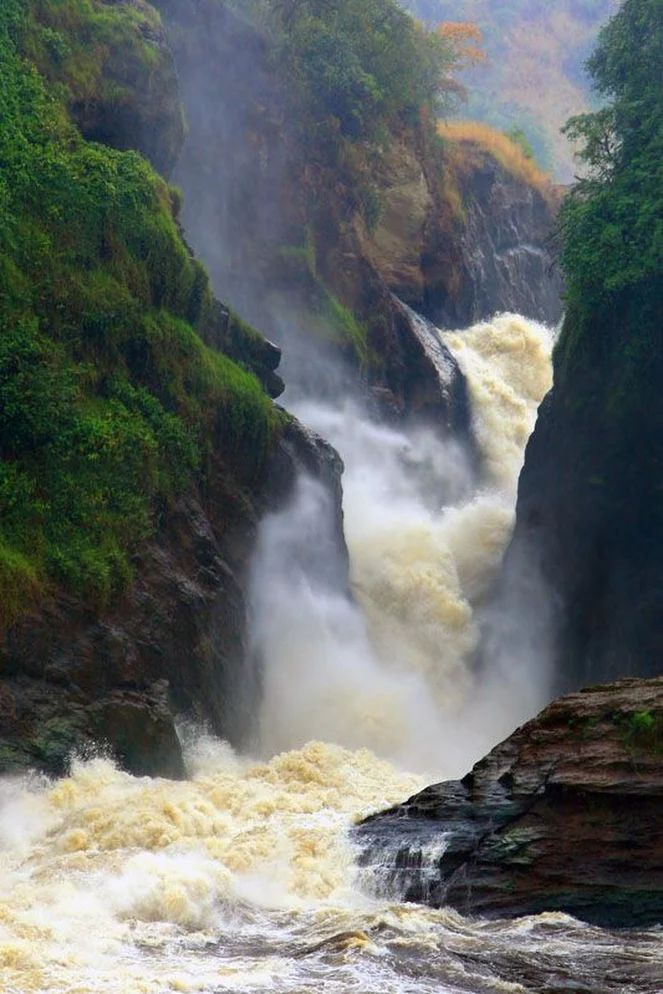 Murchinson Falls, Uganda  by Michael Trezzi ..... Murchison Falls, also known as Kabalega Falls, is a waterfall on the Nile. It breaks the Victoria Nile, which flows across northern Uganda from Lake Victoria to Lake Kyoga and then to the north end of Lake Albert in the western branch of the East African Rift.