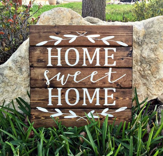 Home Sweet Home | Personalized Wood Sign | Home Sweet Home Sign | Home Decor Signs | Rustic Sign | Wedding Gift | Wood Signs | Wall Art