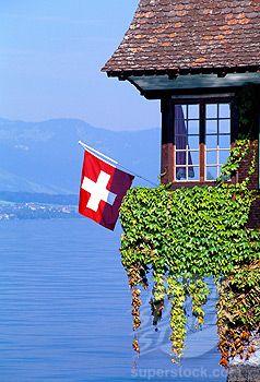 Boathouse, Thunersee, Switzerland