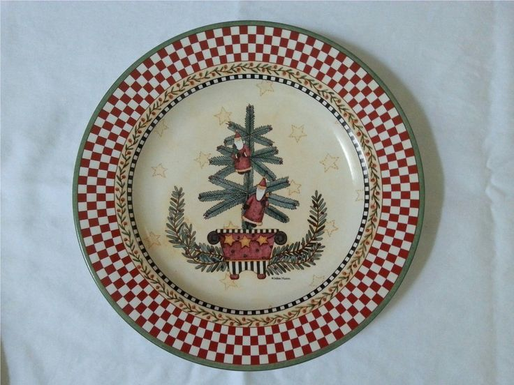 Sakura Debbie Mumm Christmas Topiary Salad Plate 3 | eBay & 109 best Xmas Table and dishes images on Pinterest | Better homes ...