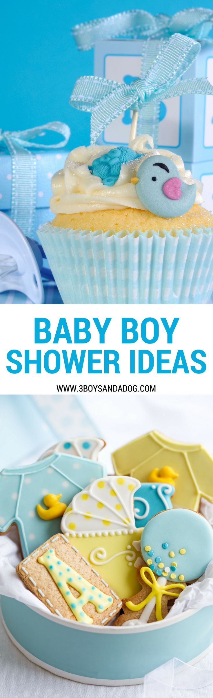 This huge list of baby shower ideas for boys is sure to help you plan and execute the  best ever baby boy shower!  #babyboy #babyshowerideas