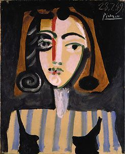 Portrait of Francoise, by Pablo Picasso (Spanish, 1881-1973)