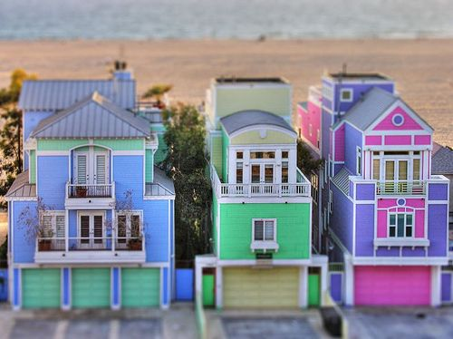 colorful beach houses !!