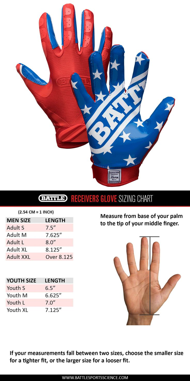 Gloves 159114: Battle Sports Ultra-Stick Football Receivers Gloves (Pair) American Flag -> BUY IT NOW ONLY: $34.99 on eBay!