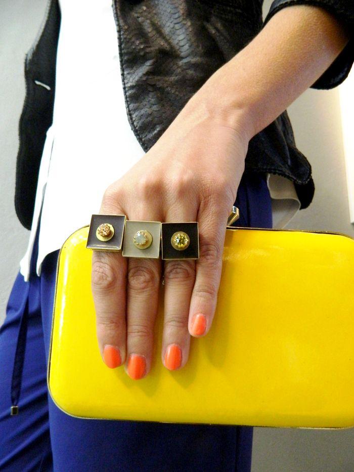 Natanè Planet rings with customised enamels. #ring #anelli #anello #colors #Yellow #cream #beige#black #giallo#nero #panna #woman #fashion #style #outfit #swarovski #jewel #bijoux #girl #natanè #
