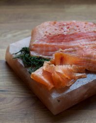 Salt Block Gravlax - Recipe adapted from Salted, by Mark Bitterman (Ten Speed Press)